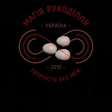 Фігура з пінопласту яйце перепелине h2см - білий з глітером