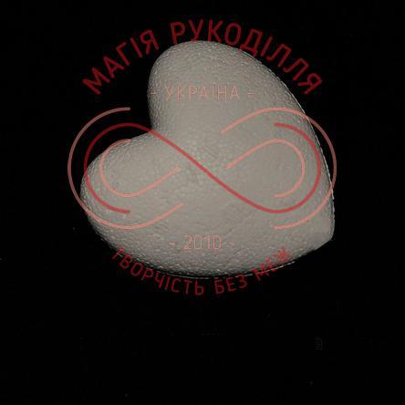 Фігура з пінопласту серце d9см - білий