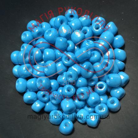 Бісер Китай 6/50грам - №001/KQ50 блакитний перлистий