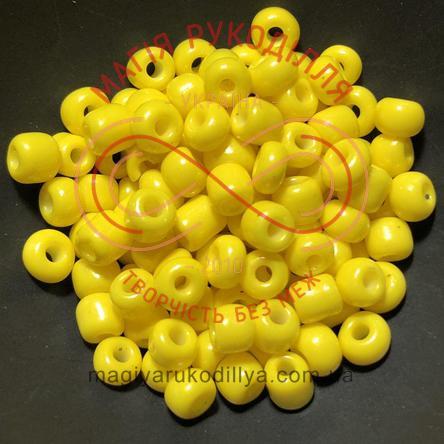 Бісер Китай 6/50грам - №009/KQ15 жовтий перлистий