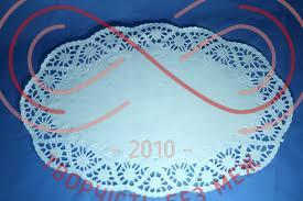 Кондитерська серветка мереживна овальна 37см*50см- білий