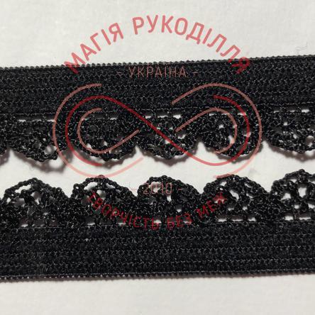 Обробна резинка ширина 12мм - 12К1249 чорний
