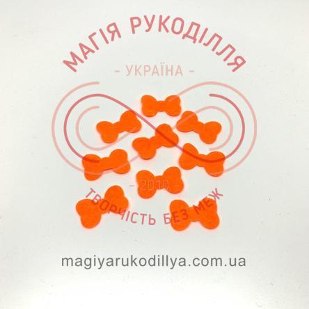 Фетрова заготовка бантик d2,3см - помаранчевий
