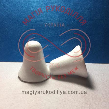 Фігура з пінопласту дзвоник h6,5см - білий
