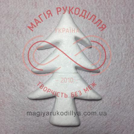 Фігура з пінопласту ялинка h14см - білий