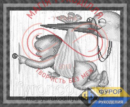 Схема для вишивання бісером картина - ЛБч3-31-1 Лелека прилетів