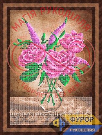 Схема для вишивання бісером картина - НБч3-80-2 Три троянди в вазі