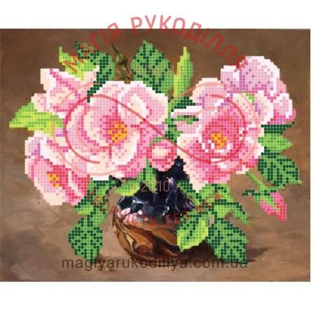 Схема для вишивання бісером - Т6 39/Р Дика троянда