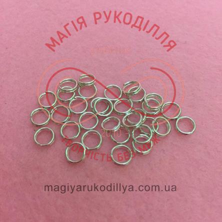 Кільце з'єднувальне подвійне d5мм - сріблястий