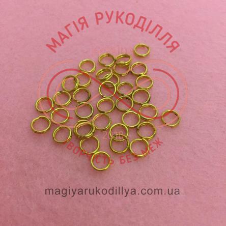 Кільце з'єднувальне подвійне d5мм - золотистий