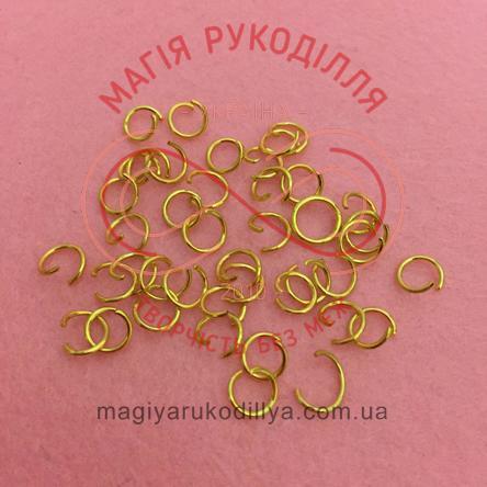 Кільце з'єднувальне d6мм - золотистий