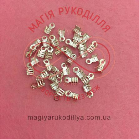 Каллот для лєски 3мм*3мм - сріблястий