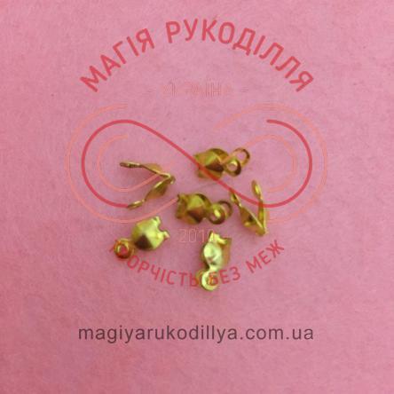 Каллот для лєски 7мм*4мм - золотистий