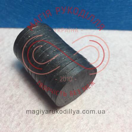 Магніт феритовий d25мм h3мм - чорний