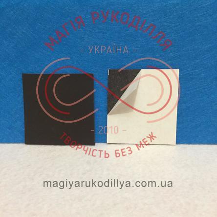 Магніт виниловий клейова основа 50мм*50мм*0,7мм - чорний