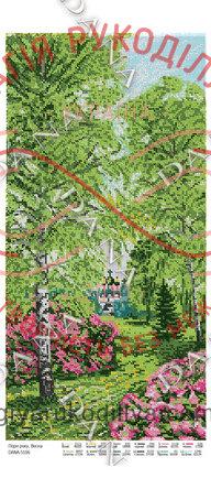 Схема для вишивання бісером картина габардин панно - DANA-5106 Пори року. Весна