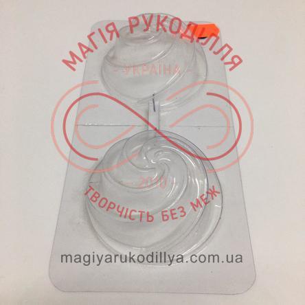 Кондитерська пластикова форма прозора 2фігури /основа 17,3см*8,5см - В2-063 Тістечко
