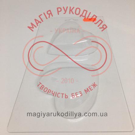Кондитерська пластикова форма прозора 2фігури /основа 23,3см*12,4см - В2-064 Серденька-пара