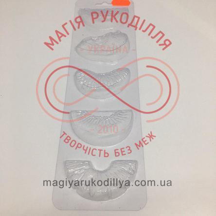 Кондитерська пластикова форма прозора 5фігур /основа 27,3см*7,8см - В5-033 Фруктове асорті