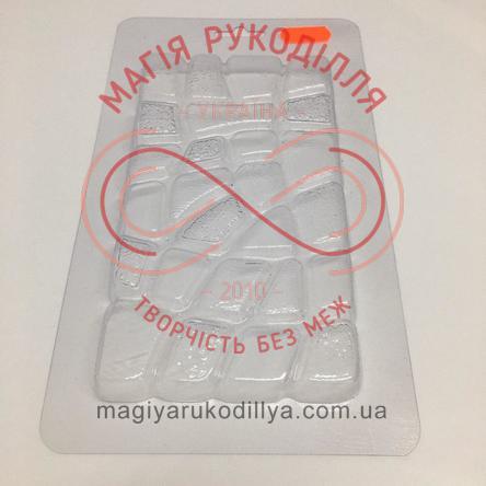Кондитерська пластикова форма прозора 16см*9см*1,4см/основа 21,8см*12,2см - С1-090 Камінчики