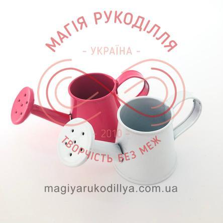 Лійка декоративна металева d3см h3,5см - білий, рожевий