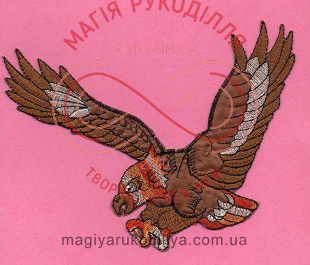 Термоаплікація 18см*6,8см - орел коричневий