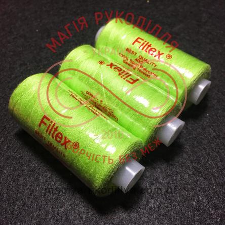 Нитка Filtex універсальна - відтінки салатового 9482