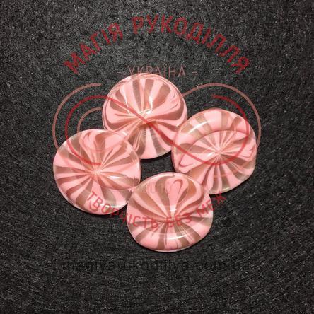 Гудзик пальтовий напівніжка d44L/28мм - рожево-бежевий