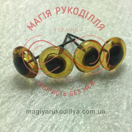 Глазками на гвоздике D10мм - светлый коричневый
