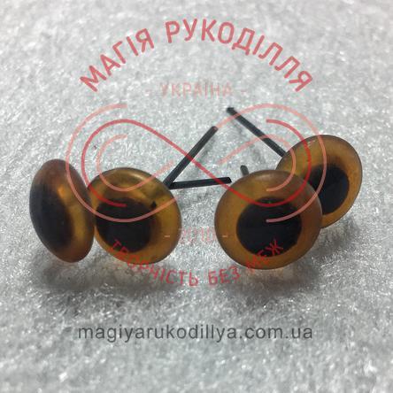 Глазками на гвоздике D10мм - темный коричневый