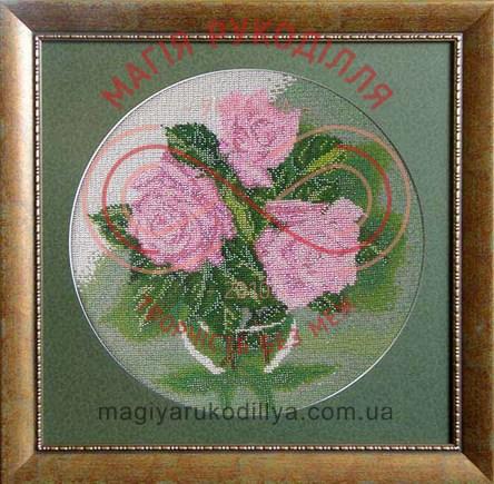 Схема для вишивання бісером картина (БС Солес) - КВ-04 Троянди