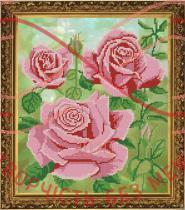 Схема для вишивання бісером картина габардин А3 (НоваСлобода) - БИС3140 Цариця квітів