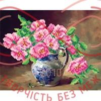 Схема для вишивання бісером - Т6 41/Р Рожеві квіти