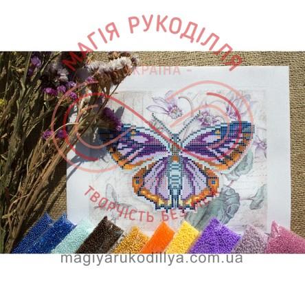Схема для вишивання бісером - Т4 29/Р Бузковий метелик