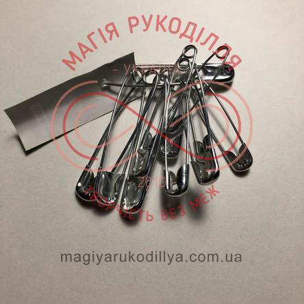Шпилька англійська сталева набір-асорті 12шт/25мм-35мм - сріблястий