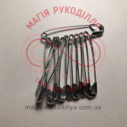 Шпилька англійська сталева набір 12шт/45мм - сріблястий