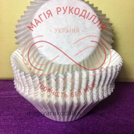 Кондитерская бумажная форма для кекса d5,5см h4,25см - белый