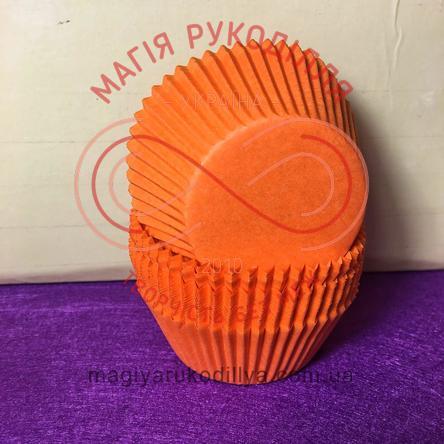 Кондитерская бумажная форма для кекса d5см h3см - оранжевый