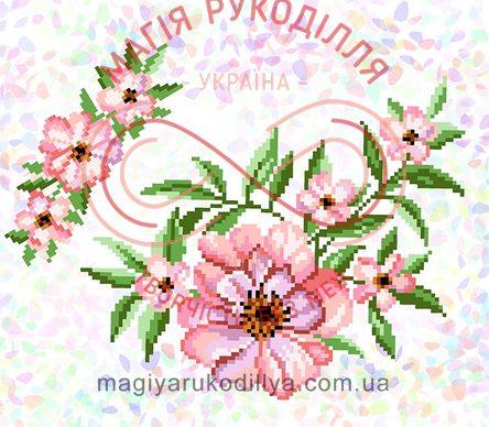Водорозчинний пришивний флізелін - К-298 Чайна троянда c31254de17cb5