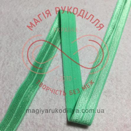 Бейка стрейчева/бейка резинка шир.1,5см - №13 м'ятний
