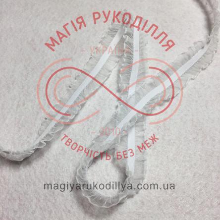 Резинка-рюша з органзи шир.2,0см - білий
