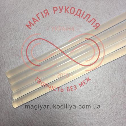 Клей силіконовий d11мм/30см - прозорий