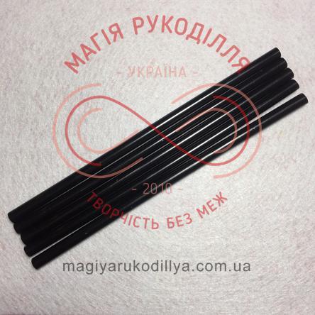 Термоклей силіконовий d7мм/20см - чорний