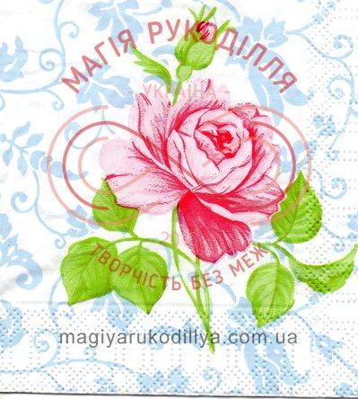 Декупажна серветка квіти 25см*25см