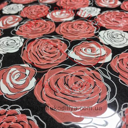 Кондитерський трансфер для шоколаду А4 - троянди