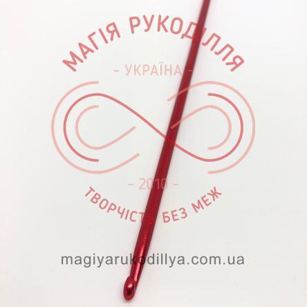 Гачок для туніського в'язання метал h35см d5,0 - кольоровий
