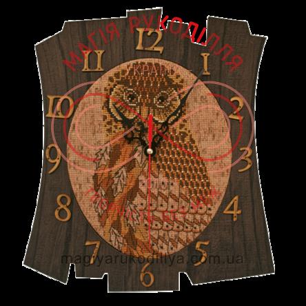 """Набор для вышивания нитками и бисером с рамкой часы """"Время мудрости"""" - РТ6511 / Р"""