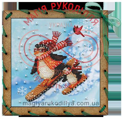 Набір для вишивання бісером і нитками листівка Спортсмени - ОР7512/Р