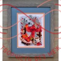Набір для вишивання хрестиком - П4-015/Р Вайт-тер'єр