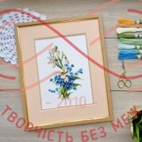 Набір для вишивання хрестиком - П6-009/Р Весняні квіти